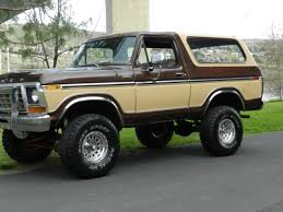 ford bronco suv 1978 brown and cream for sale xfgiven vin