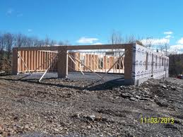 custom home garage custom home construction garage walls and roof trusses wilkins