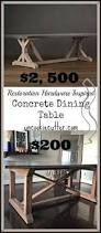 Restoration Hardware Bistro Table Concrete Top Dining Table Farmhouse Table Restoration Hardware