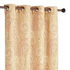 Yellow Paisley Shower Curtain by Seasons Paisley Tan 84