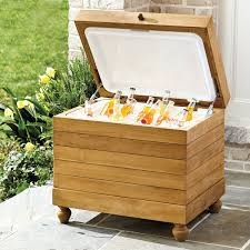 Outdoor Patio Cooler Cart by Teak Ice Chest The Green Head Teak Patio Cooler Organicoyenforma