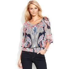 paisley blouse lyst inc international concepts paisley peasant blouse