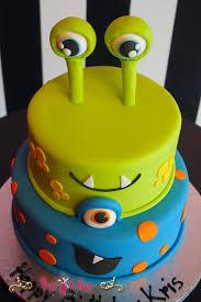 monsters inc birthday cake birthday cake monsters inc blue green 2 tier boy circles pixy cakes