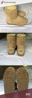 ugg shoes australia brown boots poshmark authentic metallic sliver bailey button uggs size 5 great condition
