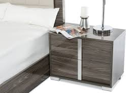 made in italy leather platform bedroom furniture sets with led