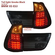 2002 bmw x5 tail light assembly for bmw x5 e53 led tail lights smoke black fit 1998 2004 year car
