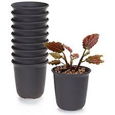 square black plastic plant pots 7cm x 7cm x 7cm 100 amazon co