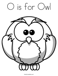 o is for owl coloring page twisty noodle