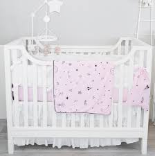 organic crib bedding set baby pink stars u2013 greenpath baby