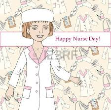 background with nurse and medical supplies hand drawn medicine