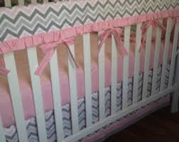 pink crib bedding set turquoise gray nursery