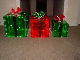 outdoor lighted gift boxes lighted gift boxes christmas indoor outdoor 150 lights presents