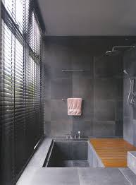 undermount bathtub design and doorless shower combo also gray