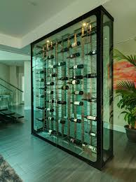 Temperature Controlled Wine Cellar - vancouver temperature controlled wine cellar modern with glass