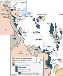 Sierra Nevada Mountains Map Birth Of The Sierra Nevada Magmatic Arc Early Mesozoic Plutonism