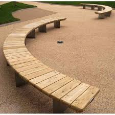 Designer Wooden Garden Furniture by Best 25 Curved Bench Ideas On Pinterest Outside Furniture Tree