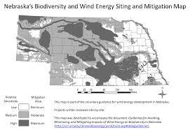 biodiversity and wind map nebraska wind energy and wildlife