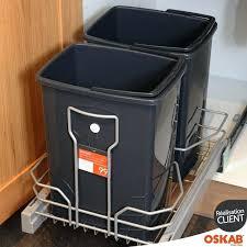 rangement poubelle cuisine poubelle cuisine 2 bacs poubelle pour meuble dangle rotative rondo