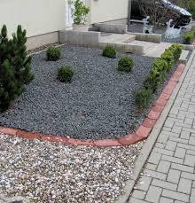 Ideen Mit Steinen Gartenarbeit Ideen Vorgartengestaltung Mit Kies Pflegeleicht