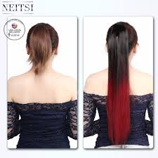 Pony Wrap Hair Extension by Aliexpress Com Buy Neitsi Ombre Pony Tail Wrap Hair Extensions