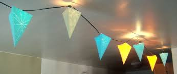 Paper Pendant Lighting String Of Paper Pendant Lights 5 Steps With Pictures