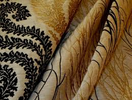 Black And Gold Upholstery Fabric Black And Metallic Gold Upholstery Embroidery Coordinates 5 Jpg