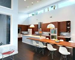 Kitchen Island With Attached Table Kitchen Island With Attached Table Zhis Me