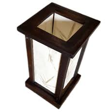 Rustic Accent Table Fai Wood Frame And Paper Shade Rustic Accent Table Lamp 12 Inch