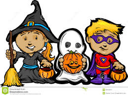 cute halloween kids in trick or treat costumes stock image image