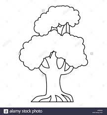 oak tree icon outline style stock vector art u0026 illustration