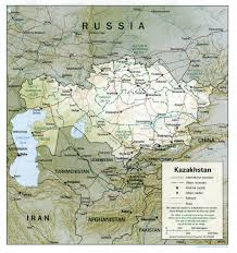 Asia Geography Map Caucasus Central Asia Maps