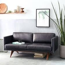 West Elm Henry Leather Sofa West Elm Leather Thedropin Co