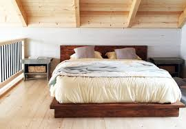King Size Platform Bed Design Plans by Ana White Rustic Modern 2x6 Platform Bed Diy Projects