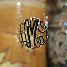 large monogram necklace gold monogram necklaces monogram jewelry be monogrammed