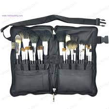 professional makeup carrier top quality 32pcs professional makeup brush set with belt bag pu
