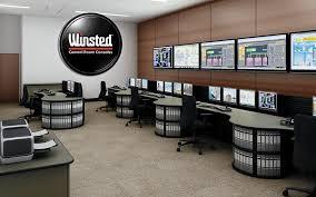 Control Room Desk Control Room With Binder Literature Storage Slat Wall Control