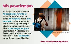 hobbies in spanish a list of activities likes and dislikes