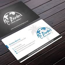 Card For Business Cards Create A Captivating Business Card For No Borders Travel Agency By