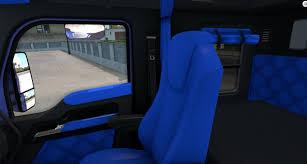 used truck kenworth t680 kenworth t680 bluey interior american truck simulator mods ats