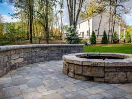 Unilock Fire Pit by Warm And Toasty Fire Pits Installed By Bundschuh Landscape