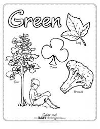 Green Coloring Page Funycoloring Green Coloring Page