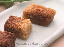 milk cake vegetarian recipe mithais by master chef sanjeev kapoor