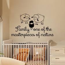 popular sheep wall stickers buy cheap sheep wall stickers lots family one of the masterpieces of nature three sheep wall stickers vinyl removable baby room decoration