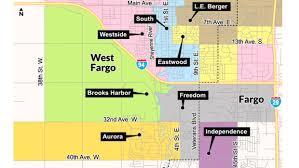 Map Of Fargo Boundary Changes Make Room For New Brooks Harbor Elementary