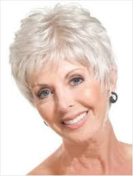 pictures of pixie haircuts for women over 60 short straight mother gray hair wigs fashion heat resistant