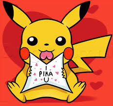 how to draw valentine pikachu step by step valentines seasonal