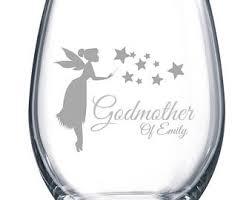 godmother wine glass godmother wine glass etsy