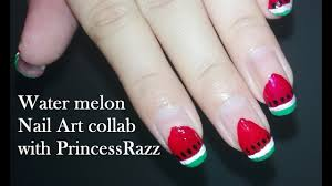 summer nail art collab with princessraaz diy french manicure