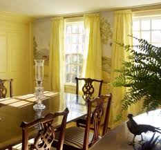Curtains For Dining Room Ideas Dining Room Dining Room Curtains Ideas With Bright Yellow Drapes