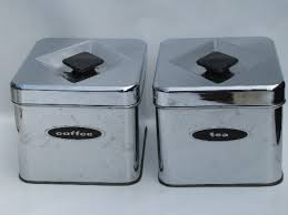 vintage kitchen canister 60s vintage kitchen canisters mod silver chrome canister set